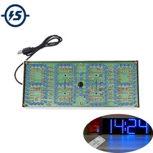 ECL 132 DIY Kit Blue Clock Screen Display Kits Electronic Suite With Patch Remote Control 132pcs 5mm LEDs Display Clock