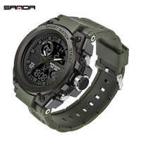 SANDA Mode Männer Sport Uhren Professionelle Military Herren Digital LED Armee Dive Uhr Casual Elektronik Armbanduhren Uhren