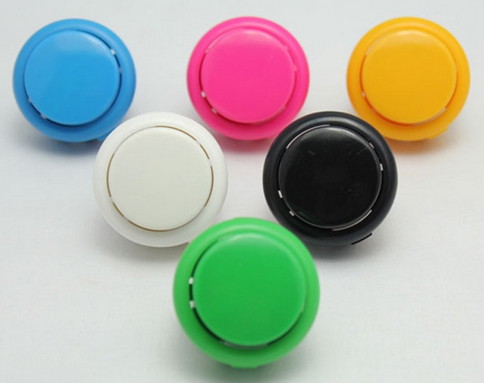 MIX Big fun Arcade Push button switch momentary switches 6 colors choice DC12V 100MA