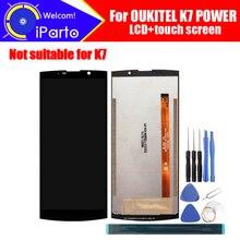 6.0 inç OUKITEL K7 güç LCD ekran + dokunmatik ekranlı sayısallaştırıcı grup 100% orijinal yeni LCD + dokunmatik Digitizer için K7 güç + araçları
