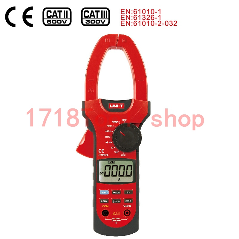 UNI-T UT207A Auto/Manual Range Digital Clamp Multimeters AC/DC Current Voltage Resistance W/ LCD Backlight uni t ut501b insulation resistance testers auto range lcd backlight high voltage indication