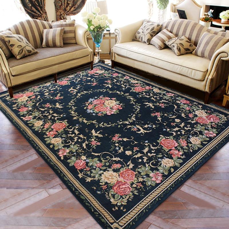 WINLIFE Style méditerranéen tapis et tapis pour la maison chambre moderne salon tapis Table basse tapis de sol/tapis décor