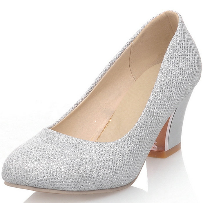 Popular Silver Chunky Heels-Buy Cheap Silver Chunky Heels lots