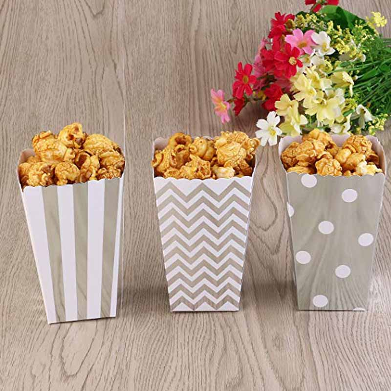 Christmas Gender Reveal Theme.Us 2 26 25 Off 6pcs Popcorn Boxes Candy Gift Bag Wedding Gender Reveal Baby Shower Boy Girl Christmas New Year Kid Movie Theme Birthday Favor In