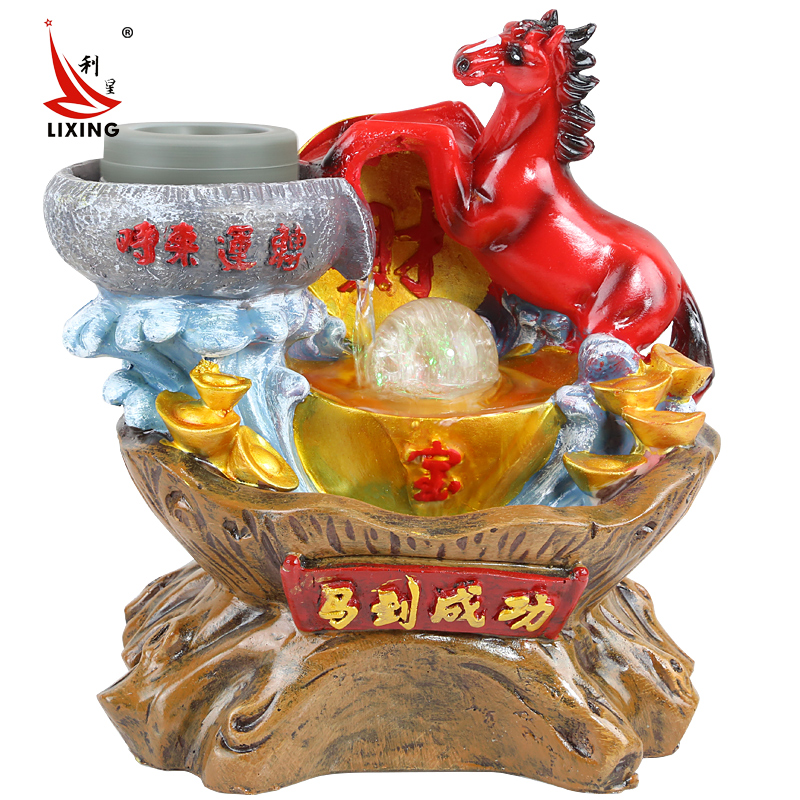 Popular horse water fountain buy cheap horse water for Decoration feng shui chambre