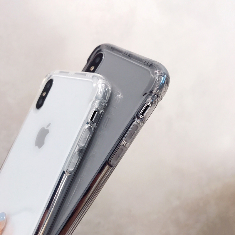 Clear Air Cushion Anti knock phone Case for iphone X XR XS XS Max Silicone case for iphone 6 6s 7 8 7plus Shockproof cover in Fitted Cases from Cellphones Telecommunications