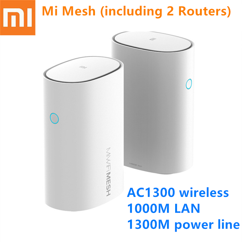 Xiaomi Mi Router Mesh WiFi 2.4 + 5GHz WiFi Router High Speed 4 Core CPU 256MB Gigabit Power 4 Signal Amplifiers For Smart Home