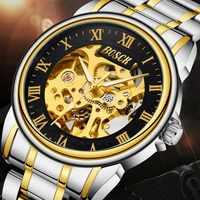 Men's Mechanical Watch Automatic Business Korean Hollow Double-Sided Waterproof Men's Mechanical Watch zegarek meski