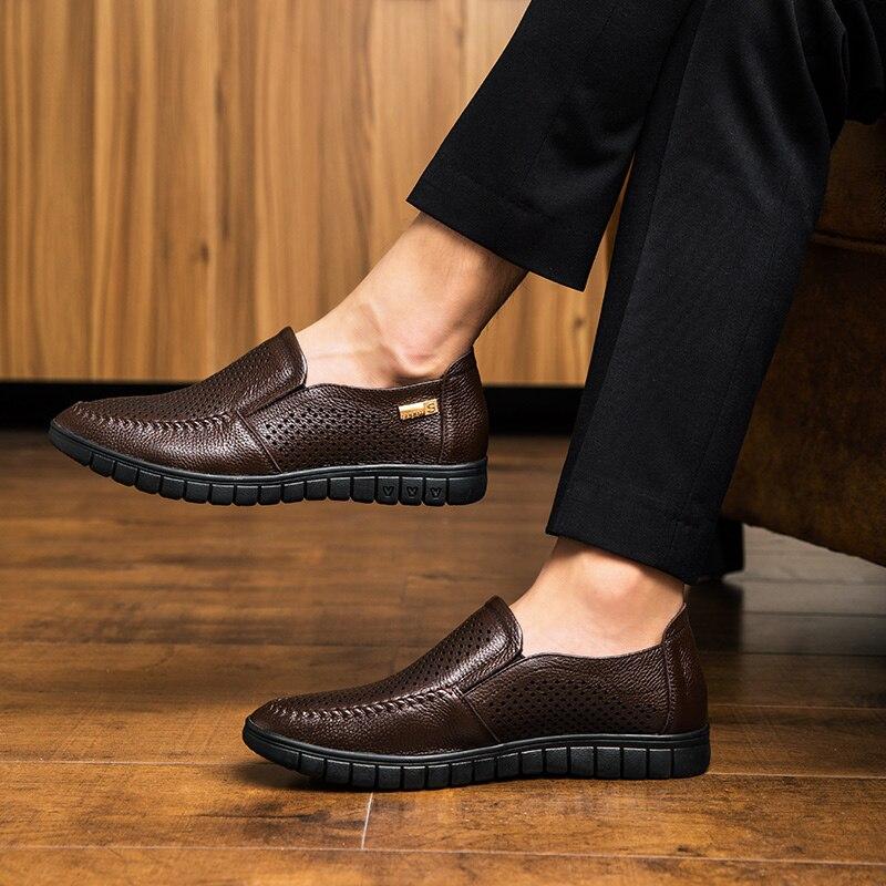 Osco Chaussures Rond 1818bl Bureau Bout Slip De Travail D'affaires 1818br 1818blk Automne Véritable Décontractée En Hommes on Printemps Cuir 1818brk Confortable 5rTaqxr7