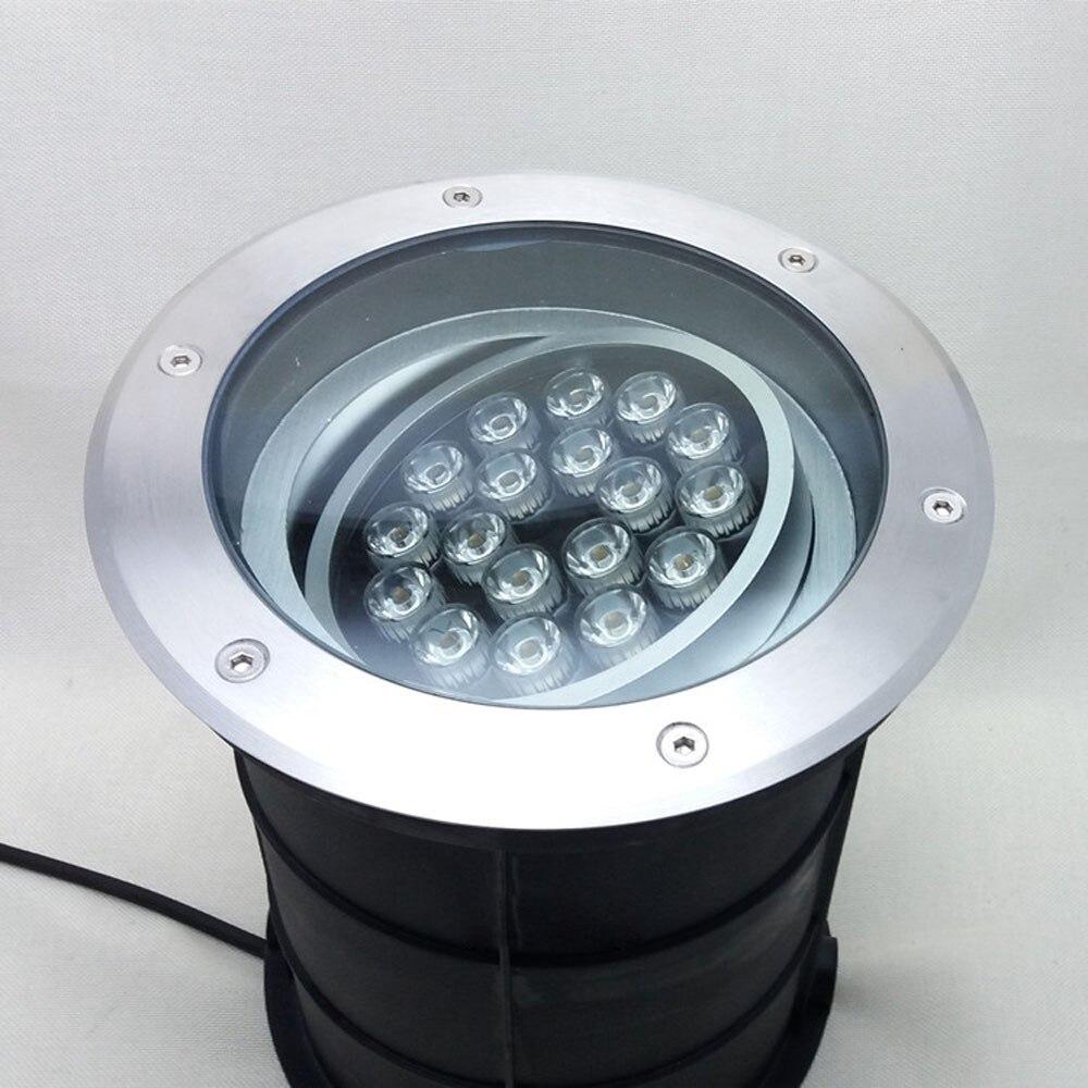 2 шт. Fanlive регулируемая диммируемая лампа 18 Вт 24 Вт 250 мм Ac85 265v IP68 светодиодный подземный светильник погребенный наружное освещение