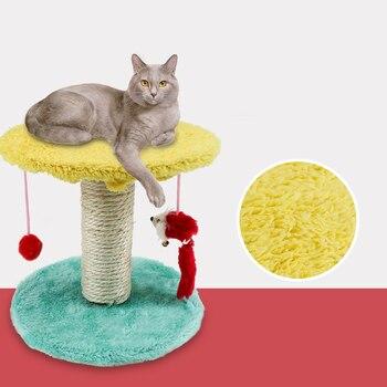@ HE doble colgante, bola, gato, marco de escalada, Gato Sisal, tabla de rascar, plataforma de saltar, gato, juguete para mascotas, ratón, columna de cuerda Sisal