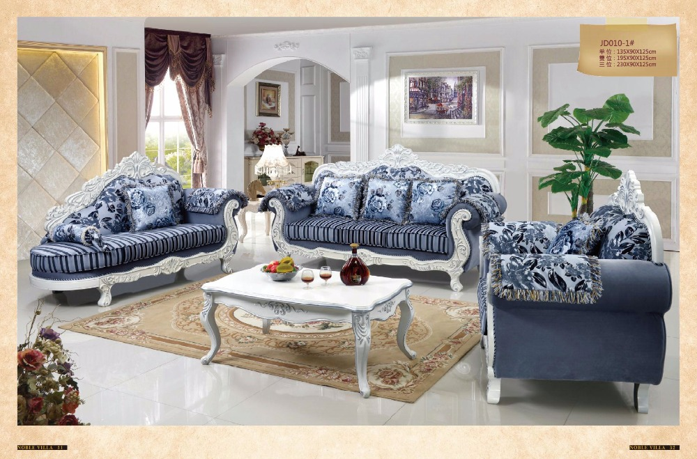 With Shipping Cost Delivery To BALTIMORE Included 2pcs Side Table 1pcs Coffee Luxury French Style Fabric Sofa Set