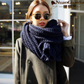 Women Winter Coarse Wool Scarfs Long 2015 New Fashion Women Pure Color Big Warm Knitted Scarf High Quaity Wholesale