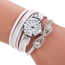 2019 ladies bracelet watch leather quartz watch brand luxury silver rhinestone clock fashion ladies casual watch недорого