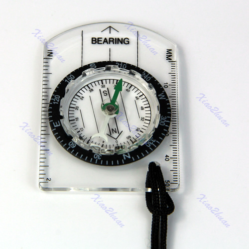 2018 High Quality Hot All In 1 Outdoor Hiking Camping Baseplate Compass Map MM INCH Measure Ruler