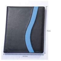 [Free shipping] PU cover FX88 with A4 note, card pen holder file packet company manager office use portfolio , 1pc/lot