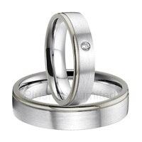 Анель de Casamento Европа Дизайн пользовательские titanium обручальное кольца для мужчин и женщин