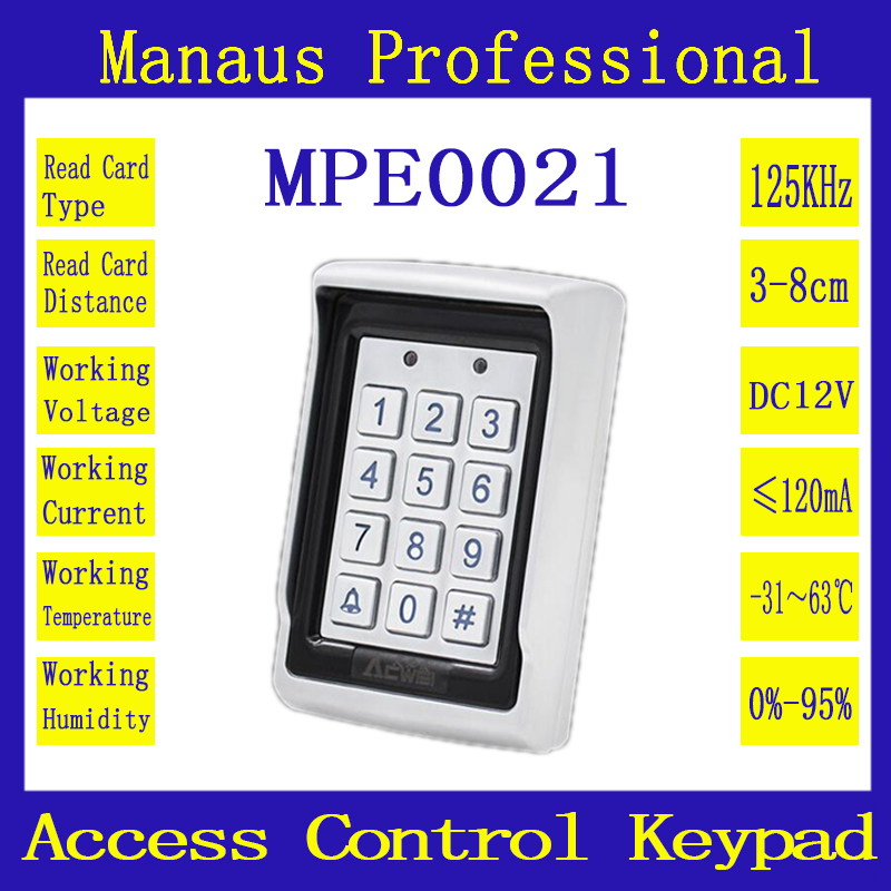 High Quality New Arrival RFID Proximity Door Access Control System Entry Door Lock Waterproof EM Keypad Access Control E-21 metal rfid em card reader ip68 waterproof metal standalone door lock access control system with keypad 2000 card users capacity