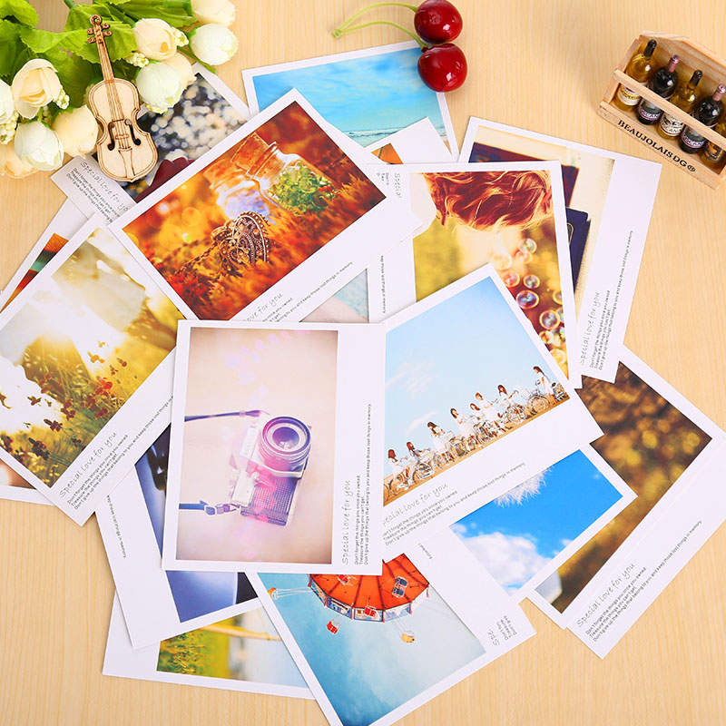 10 Pcs/lot Vintage Romantic Scenery Mini Greeting Card Postcard Birthday Letter Envelope Gift Card Set Message Card