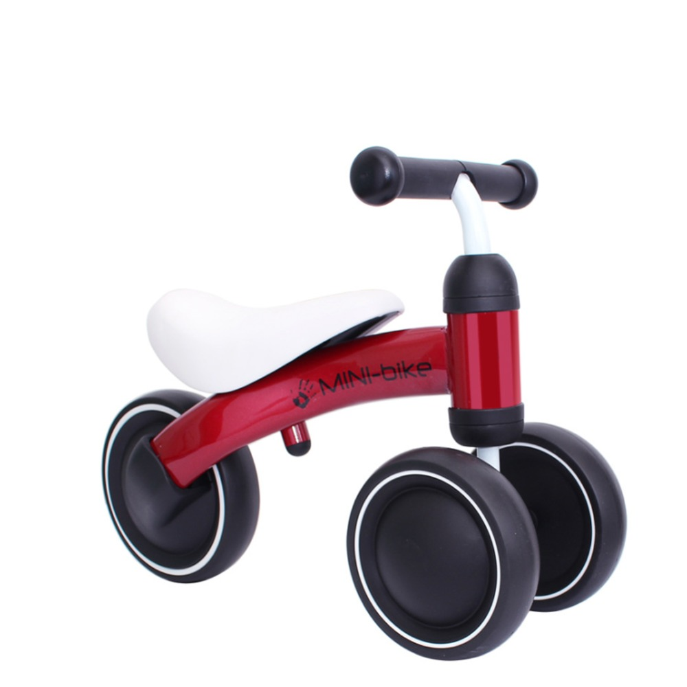 Mibi-Bike 12 Inch Balance Bike Toddler No Pedals For 1 – 5 Year Old, 3 Wheel – Blue, Red, White 4