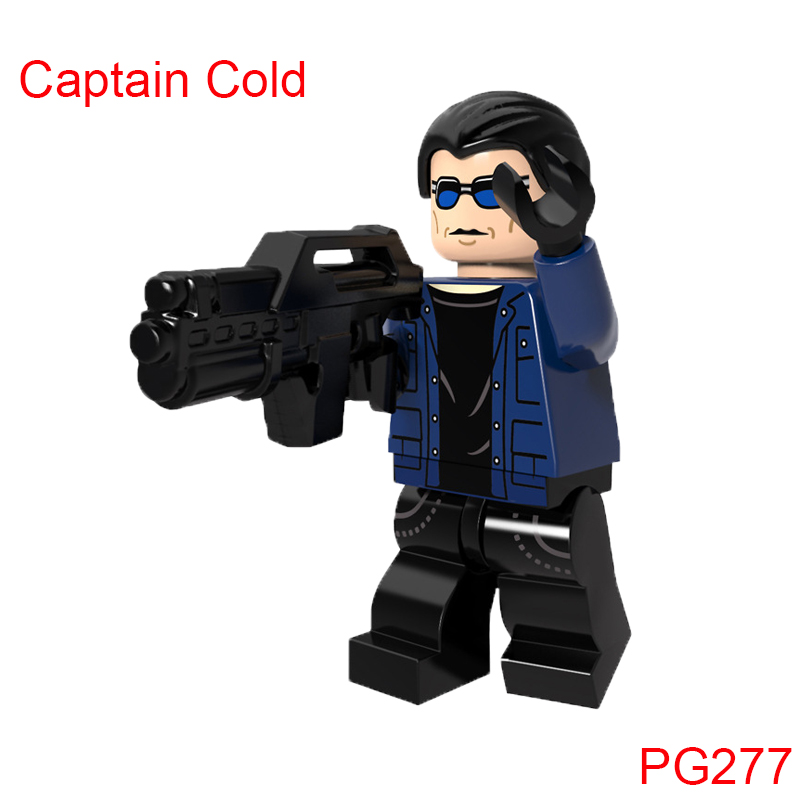 Single Sale Super Heroes Firestorm Captain Cold Building Blocks Action Figures Diy Dolls Children Toys Christmas Gift Pg277