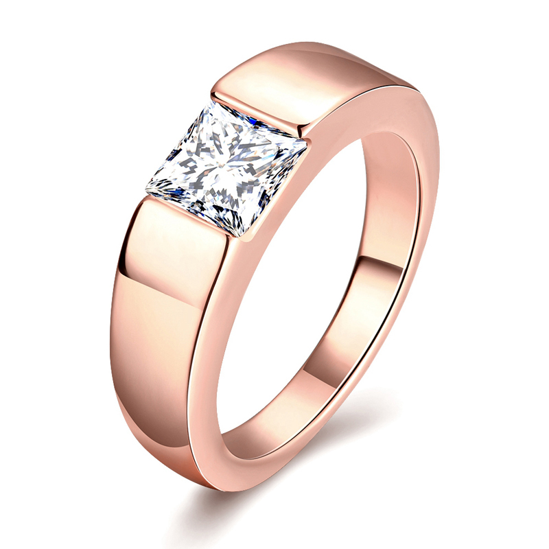 jenia new arrival gold color shiny zircon man male wedding ring mens jewelry cr142china - Male Wedding Ring