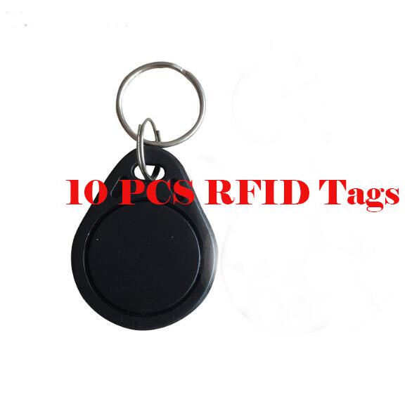 10Pieces Key chains RFID keypad tags ABS Key Fob Key Tag Color Black kaish 4pcs gold metal lp top hat bell knobs guitar bass knob for metric 5 8mm pots