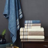 new 2019 3 pcs towel set soft face towel 34x76cm bath towels for adults 70x140cm bamboo towels free shipping