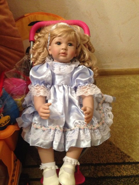"""22 """"Hiqh qualidade criança Arianna Tatiana ouro cabelo silicone boneca american girl boneca de menina bebe reborn de Silicone"""