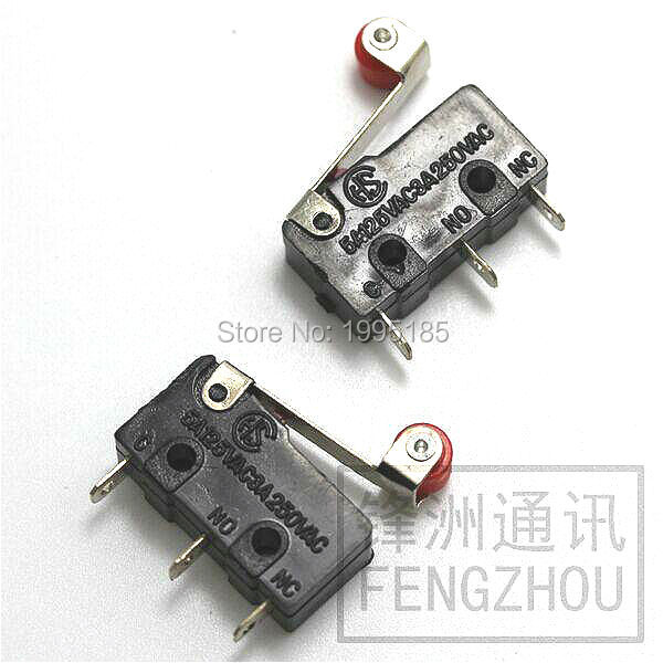 10pcs/Lot Pulley switch 3Foot Micro Switch KW11-N Travel switch KW12 Contact switch  KW12-11-N