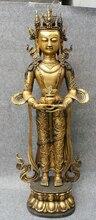 "USPS a EE. UU. S1726 39 ""Tibet Templo de Bronce Dorado Amitayus Buda De Porcelana kwan-yin de GuanYin Estatua de Tara (B0328)"