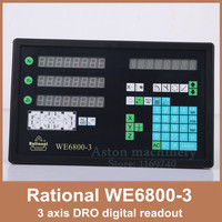 Free Shipping milling machine 3 axis digital readout DRO Rational WE6800 3 digital indicator
