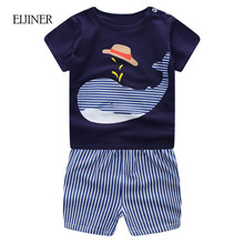 Cartoon Newborn Baby Boy Clothes Summer 2017 New Baby Boy Girl Clothing Set Cotton Girls Clothing Baby Clothes tshirt+short Pant