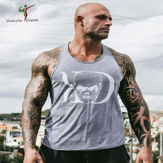 7047cf583da 2018 Brand mens t shirts Summer Cotton Slim Fit Men Tank Tops Clothing  Bodybuilding Undershirt Golds Fitness tops tees