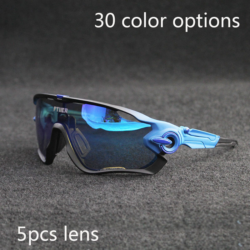 100th Anniversary Tour De France Cycling Glasses Polarized Cycling sport Sunglasses Bicycle Bike Goggle 5 Pair Lens UV400