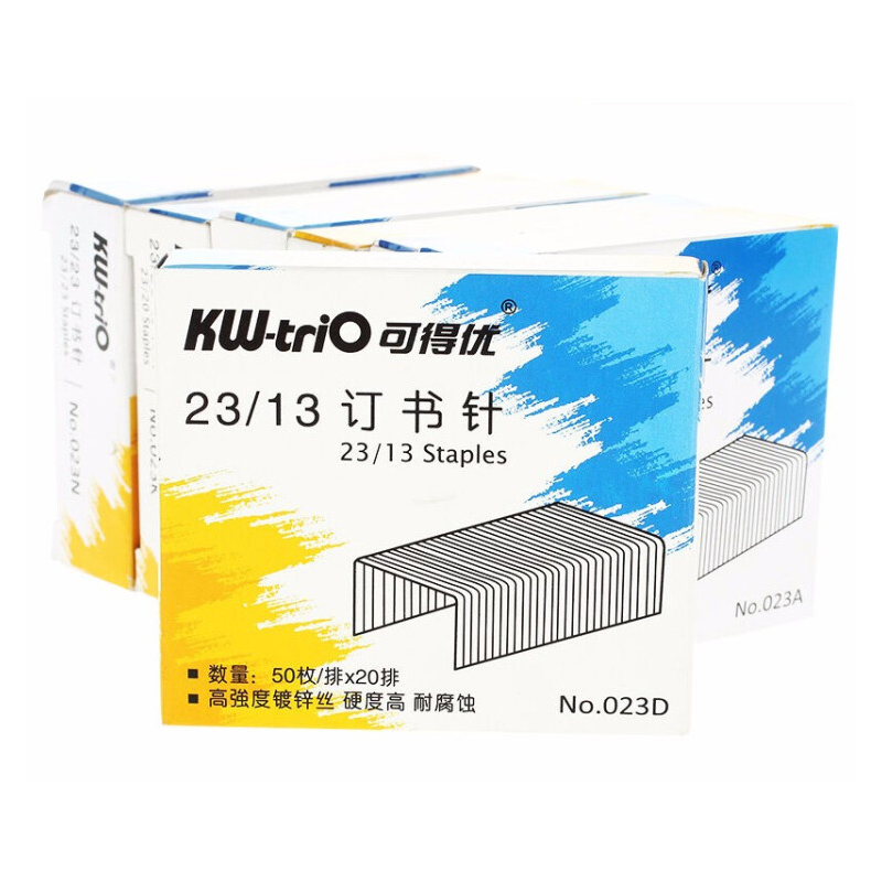 1box Heavy Duty Staples 23/13 1000pcs Metal Silver Office Stapler Staples Book Binding 100 Sheets Office School Supplies