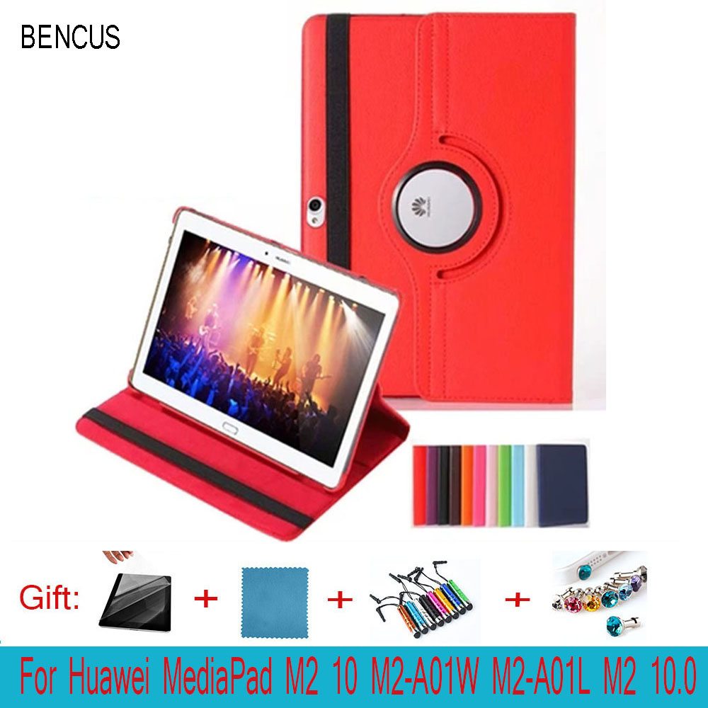 BENCUS 360 Degree Rotating Stand High Quality Flip PU Leather Case For Huawei MediaPad M2 10 M2-A01W M2-A01L M2 10.0 Tablet