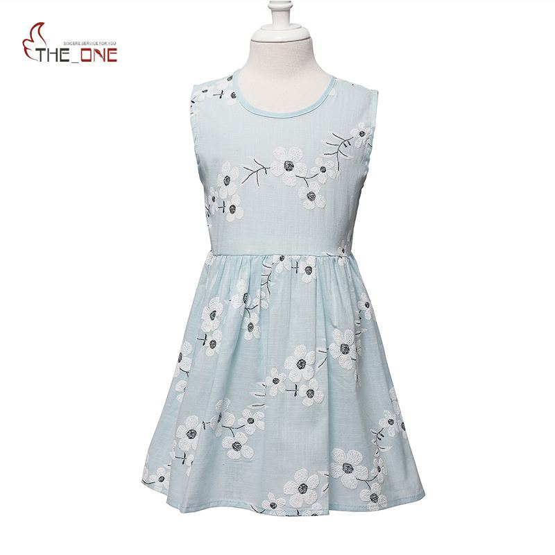 MUABABY Girls Flower Dress Sleeveless Bow Raindrop Backless Beach Summer Dresses Kids Girl Print Casual Clothes Cotton Sundress unini yun 2 7t girl dress baby kids summer flower cherry backless sundress girl cotton sleeveless princess beach casual dresses