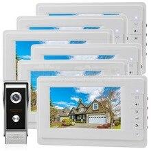 DIYSECUR 7 inch TFT Color LCD Display Video Door Phone Video Intercom Doorbell 700TVLine HD IR Night Vision Camera 1V6