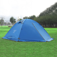 2 Person Camping Tent Double Layer Double Door Winter Tents With Snow Skirt Outdoor Windproof Waterproof