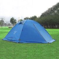 2 Person Camping Tent Double Layer Double Door Winter Tents With Snow Skirt Outdoor Windproof Waterproof