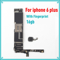 16GB original mainboard for iphone 6 Plus 5.5inch with touch ID IOS system logic board unlock motherboard,Good working