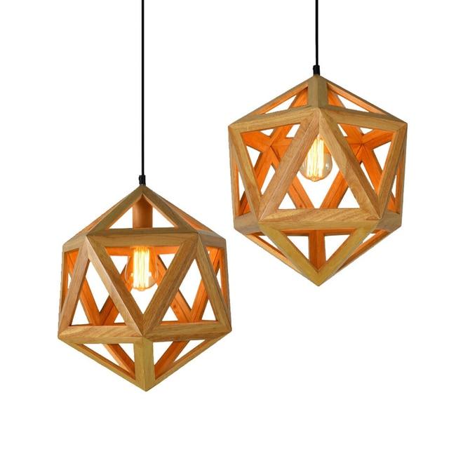 Modern Nordic Wood Pendant Light