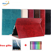 For Apple New IPad Pro 9 7 2017 A1822 A1823 Crocodile Leather Case With Wallet Card