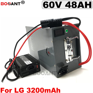 For LG 18650 E-bike battery 60V 48AH Electric bike battery for 3000w 5000w Motor Electric Scooter battery 60V +Metal Box +BMS
