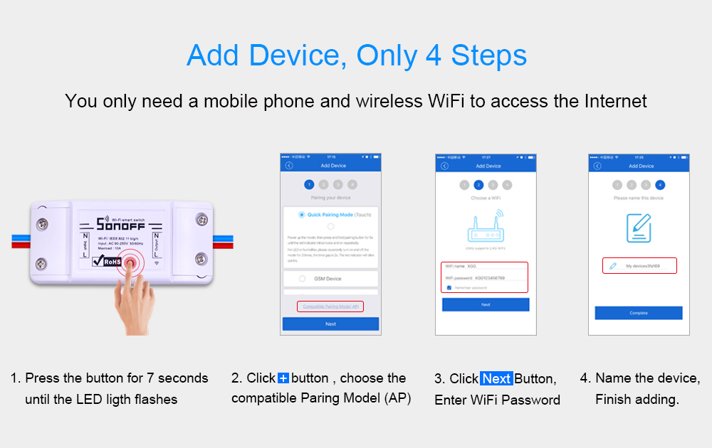 Add Device, Only 4 Steps