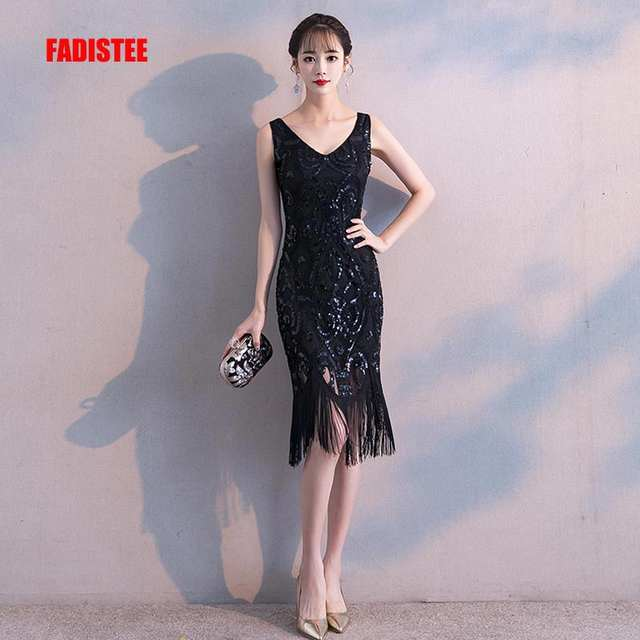 faaa511df9d1c FADISTEE New arrival cocktail party prom Dresses Vestido de Festa sequins  simple Tassel pattern beads style dress 2019