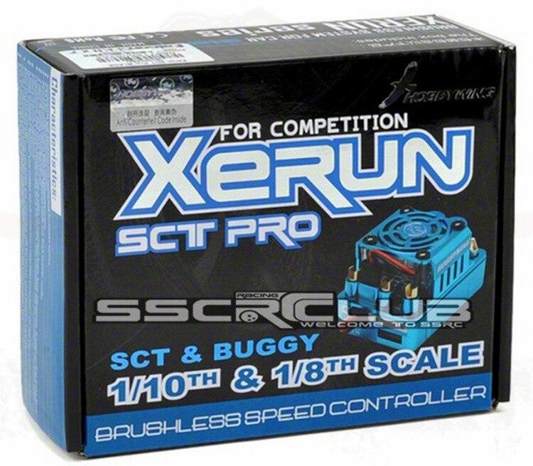 Цена-сюрприз HOBBYWING XERUN SCT Pro 120A синий датчиками безщеточный ESC для 1/10 1/8 RC багги Весы Truggy Monster Truck