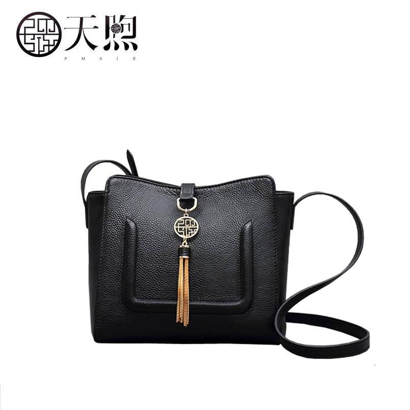 Retro Messenger Bag 2019 New Temperament One Shoulder Casual Bucket BagRetro Messenger Bag 2019 New Temperament One Shoulder Casual Bucket Bag