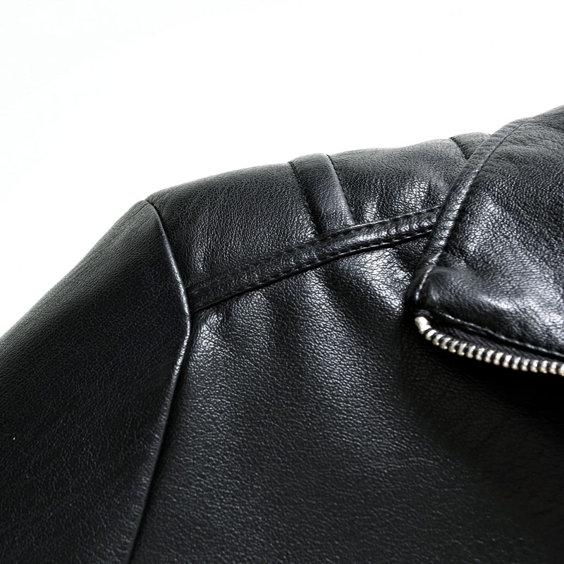 2019 New Men 39 S Slim PU Solid Color Leather Jacket Men 39 S Simple Fashion Casual High Quality Wild Men 39 S Leather Coat in Faux Leather Coats from Men 39 s Clothing